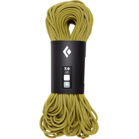 Black Diamond 7.0 Dry Climbing Rope 60m yellow